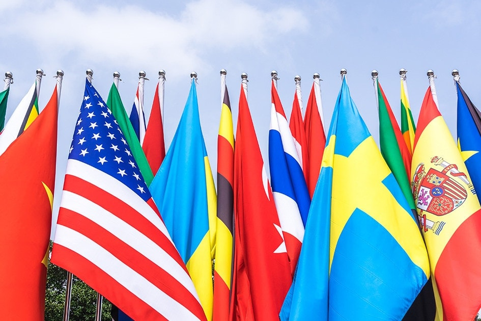 Flying foreign flags in America and rules you should abide by