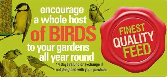 Check out our quality bird food!