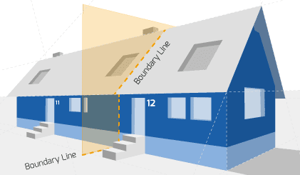 Party Wall illustration for Cannock Surveyors