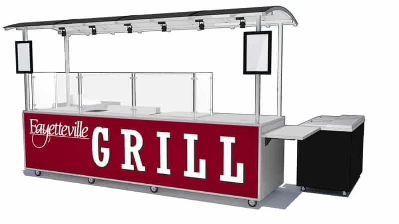 baseball stadium grill cart builder