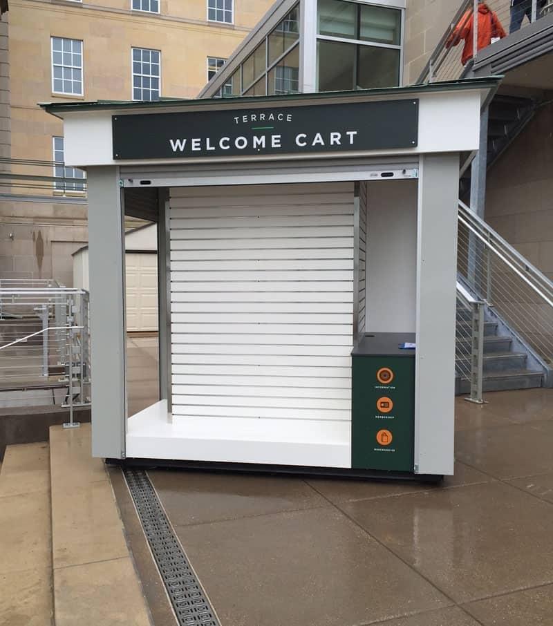 outdoor welcome cart builder