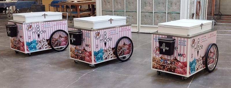 outdoor ice cream push cart manufacturer