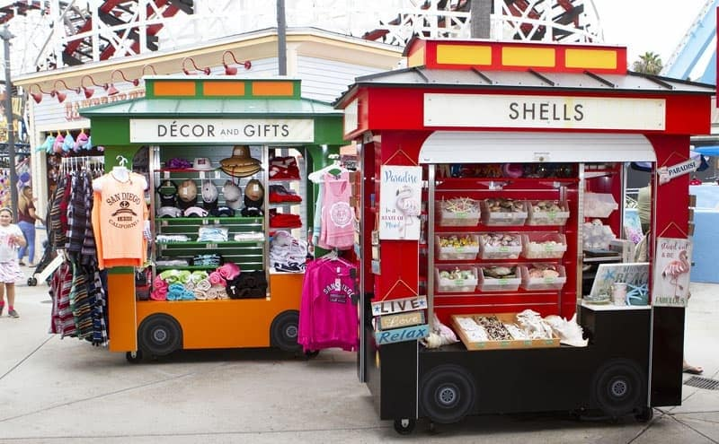 outdoor trolley kiosk fabricator