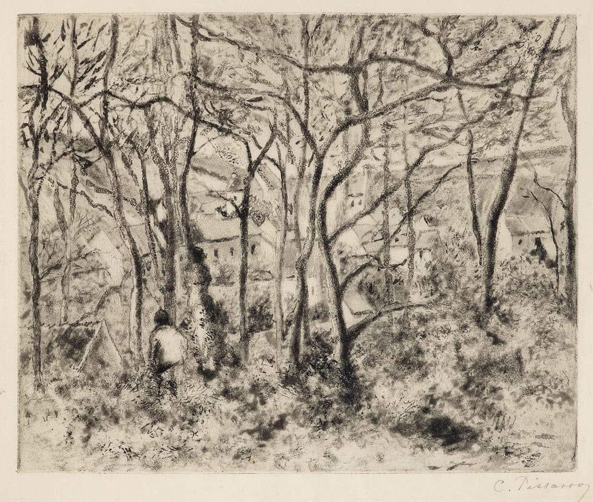 PISSARRO_Paysage sous bois,a l'Hermitage