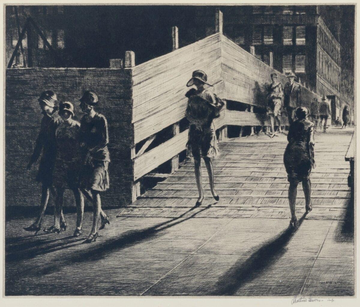 LEWIS_Fifth_Ave_Bridge-original-print-for-sale