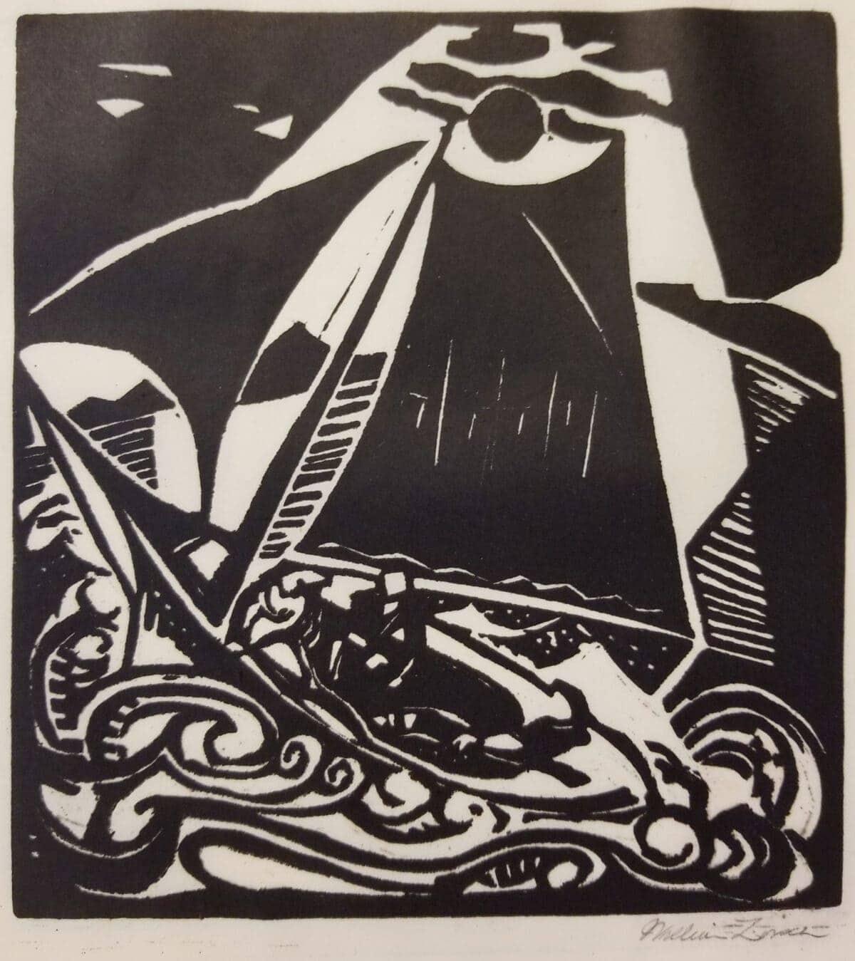 ZORACH_Sailboat_original_print_for_sale