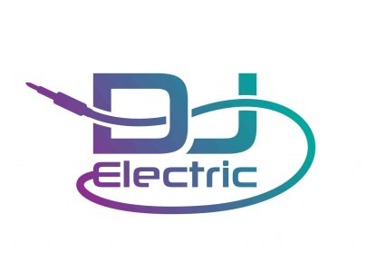 DJ Electric logo - djlogodesign.co.uk crop