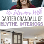 Interested in remodeling your home or looking for a home refresh? Check out our interview with Carter Crandall of Blythe Interiors!