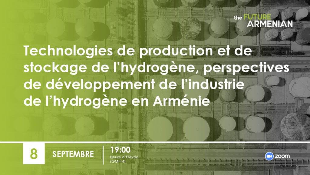 Technologies de production et de stockage de l'hydrogène, perspectives de développement de l'industrie de l'hydrogène en Arménie (Objectif 2)