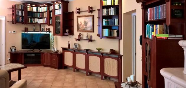 Nappali bútor sarok tvszekrénnyel és radiátorburkolattal