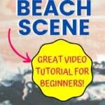 Acrylic Painting Lesson Sunset Beach Scene