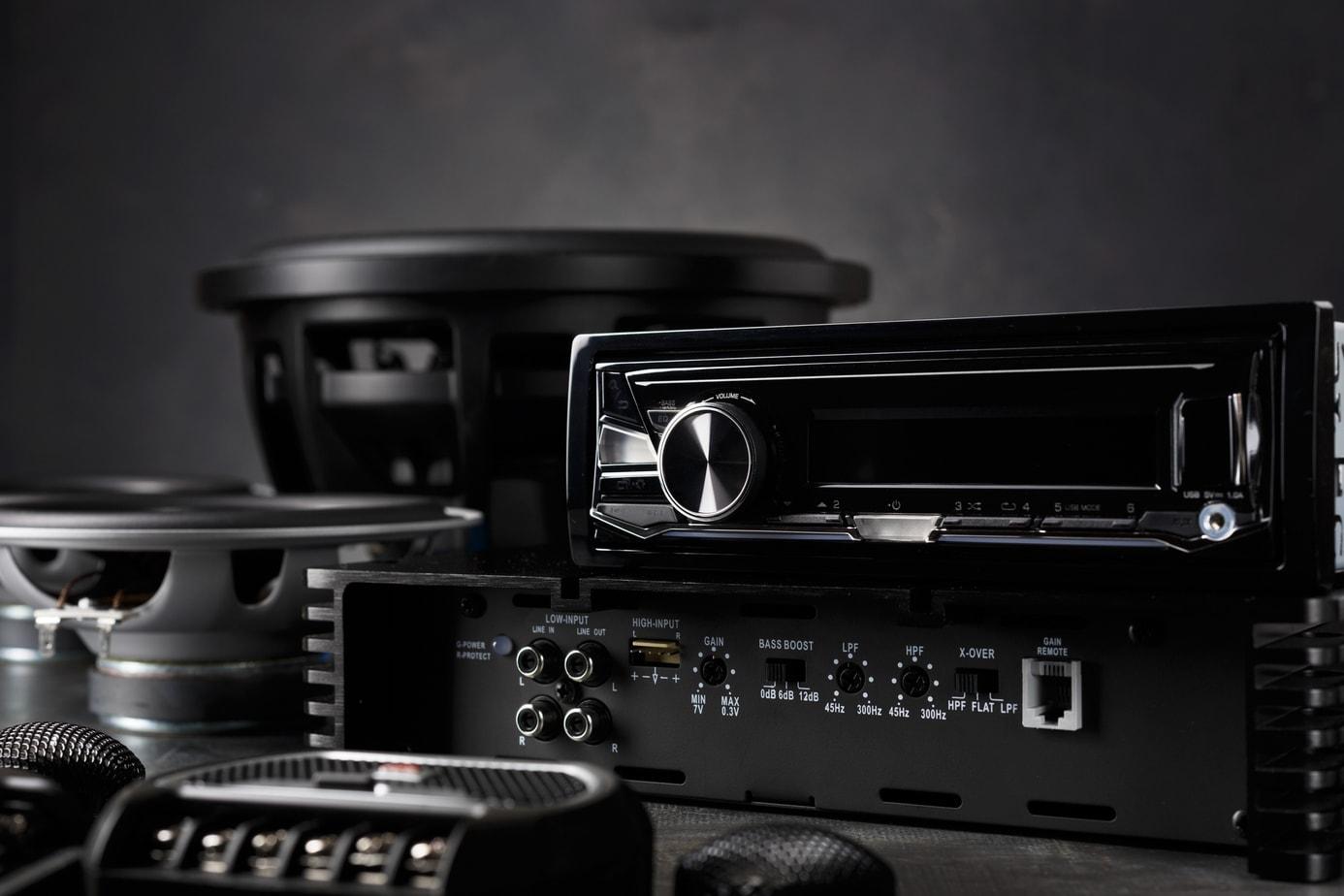 Assortment of Car Audio Components