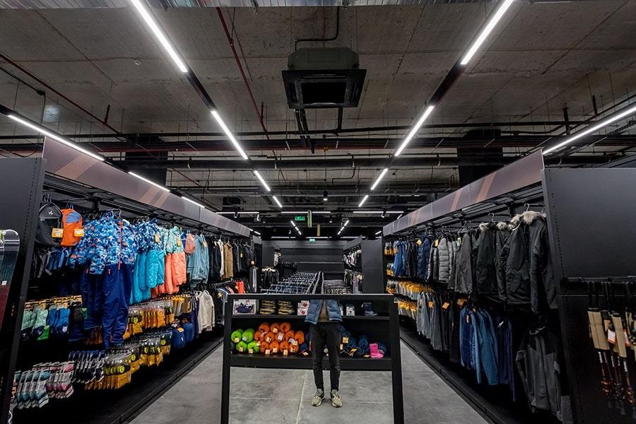 освітлення для магазинів, торгових центрів і суперамакетів