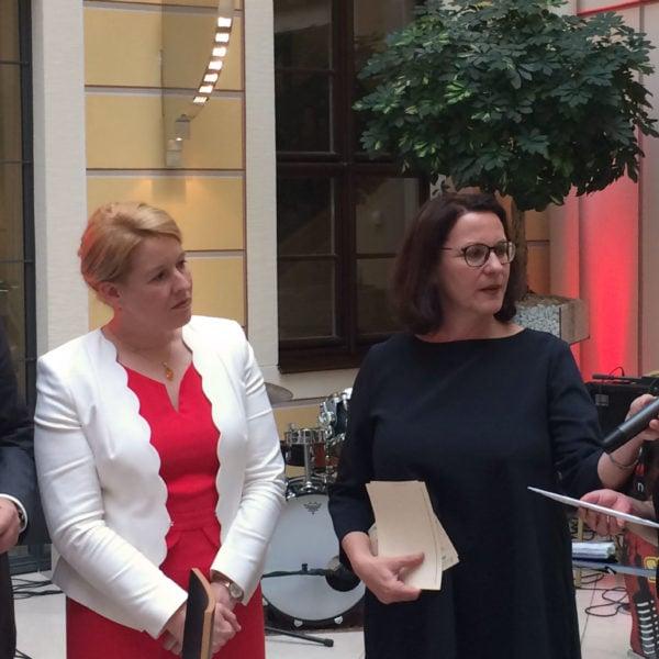 Zusammentreffen mit Ministerin Dr. Franziska Giffey auf dem SPD Sommerfest