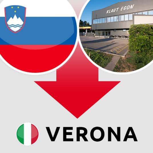 Prevoz Šempeter pri Gorici – Verona (IT)