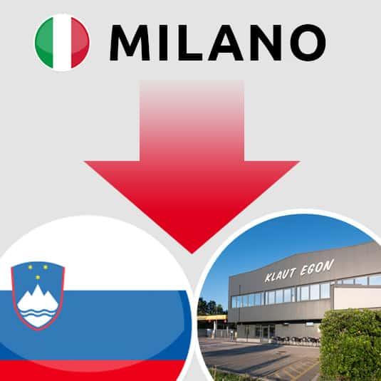Prevoz Milano (IT) – Šempeter pri Gorici