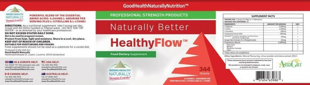 healthy flow ingredients