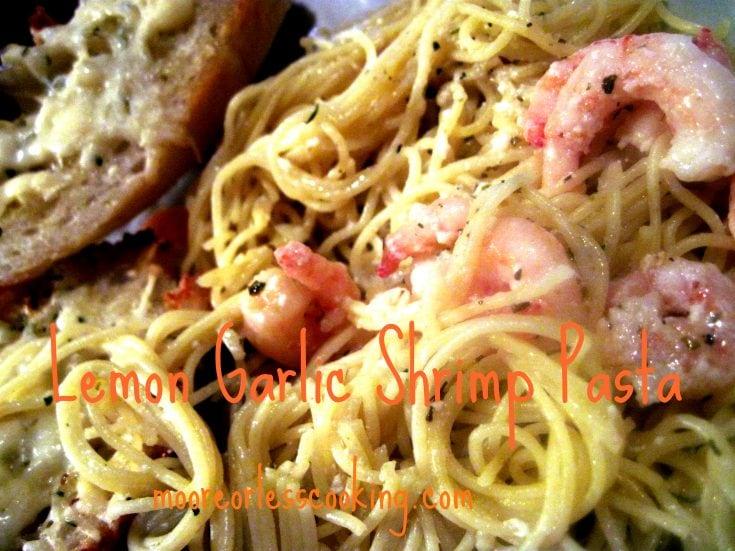 Lemon Garlic Shrimp Pasta