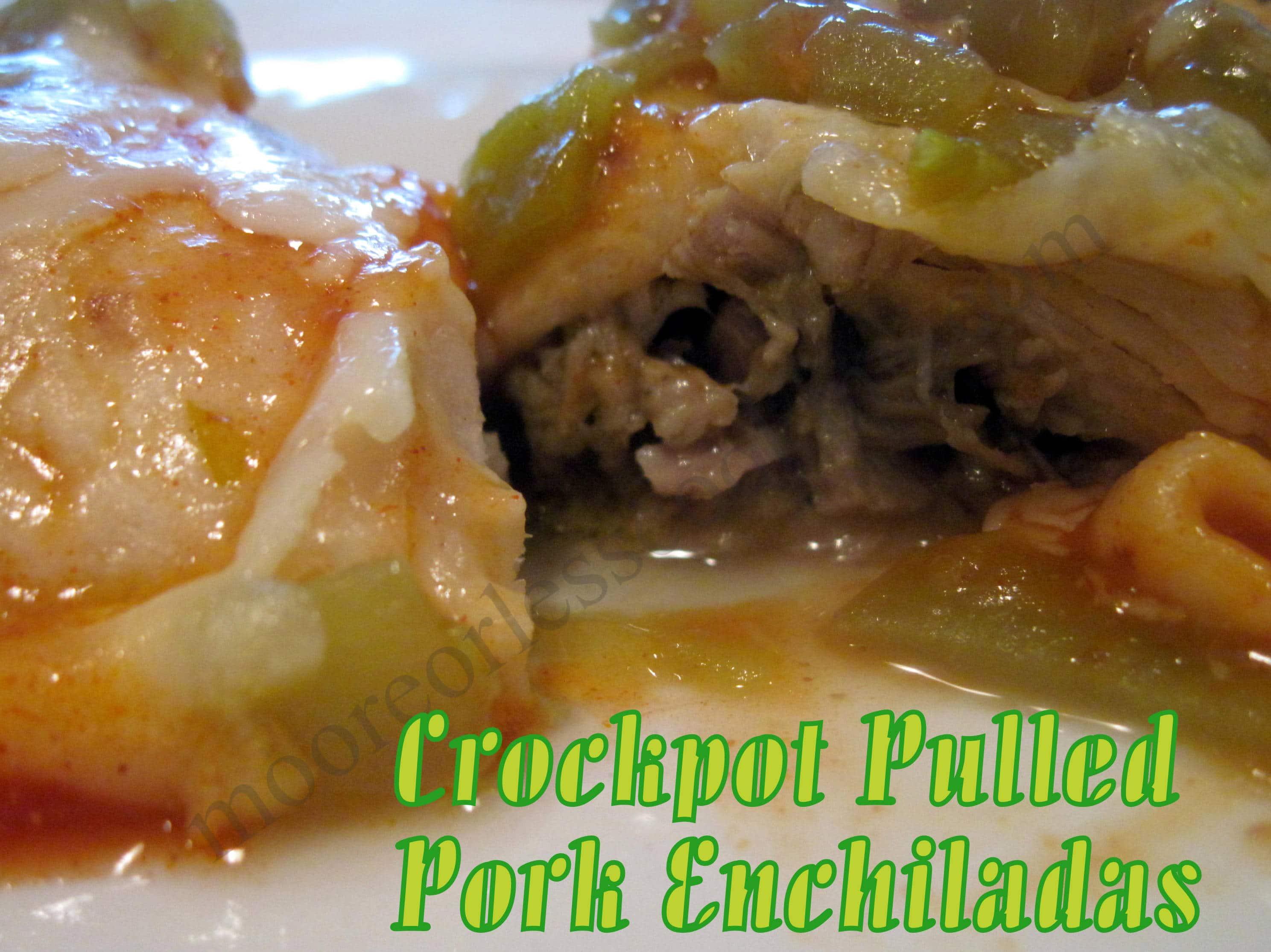 Crock Pot Pulled Pork Enchiladas