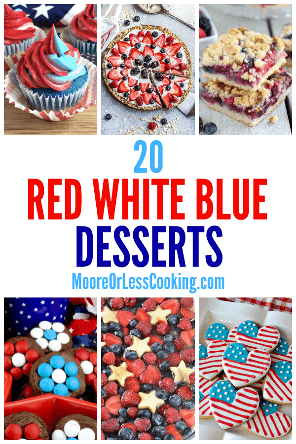 These red, white, and blue desserts are perfect for summer celebrations such as the 4th of July, Memorial Day, or even a sports team with these colors! From stars and stripes to flag-inspired decor, everyone will enjoy these creative recipes. via @Mooreorlesscook