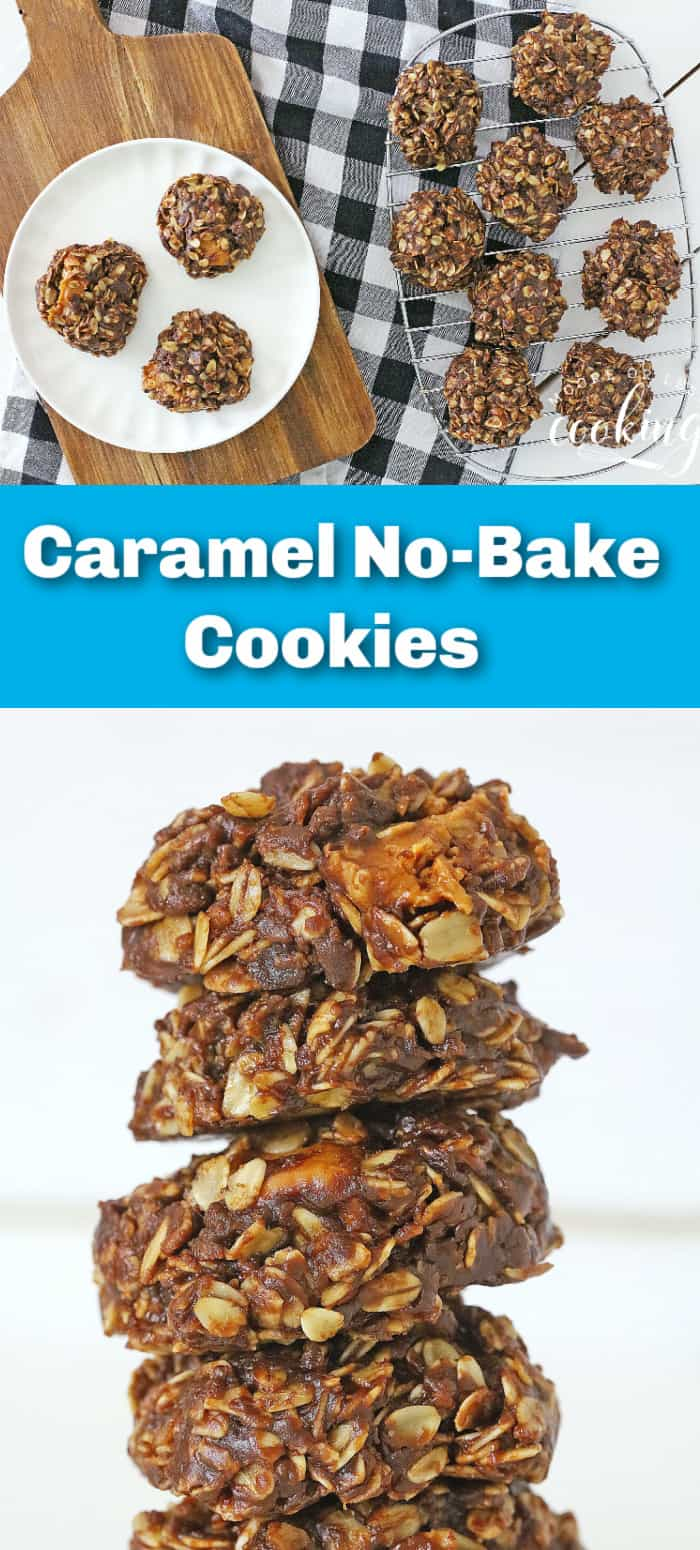 Buttery and chewy with rich chocolate flavor and melted caramel are the hallmarks of these scrumptious no-bake cookies. With deliciousness in every bite, these caramel no-bake cookies are incredibly quick and easy to make, too! via @Mooreorlesscook