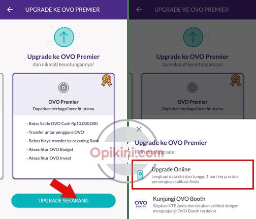 Cara Upgrade OVO Premier Online Sendiri Tanpa ke Booth