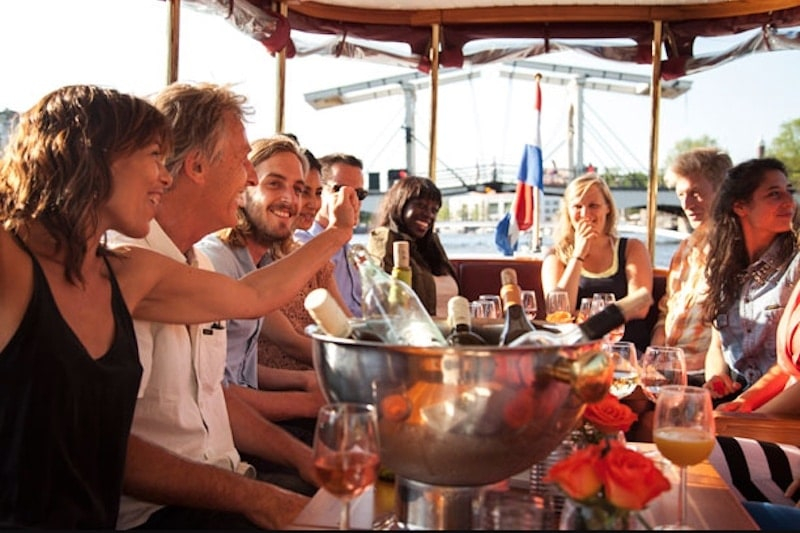 Borrelboot Amsterdam unlimited open bar