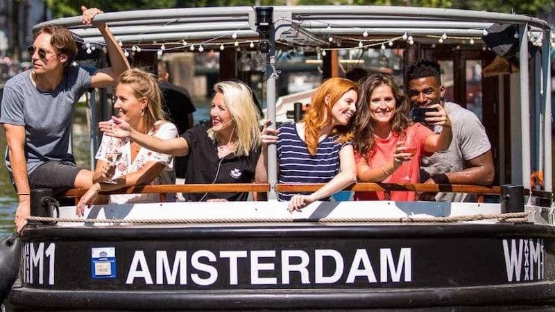 Salonboot WM1 huren Amsterdam