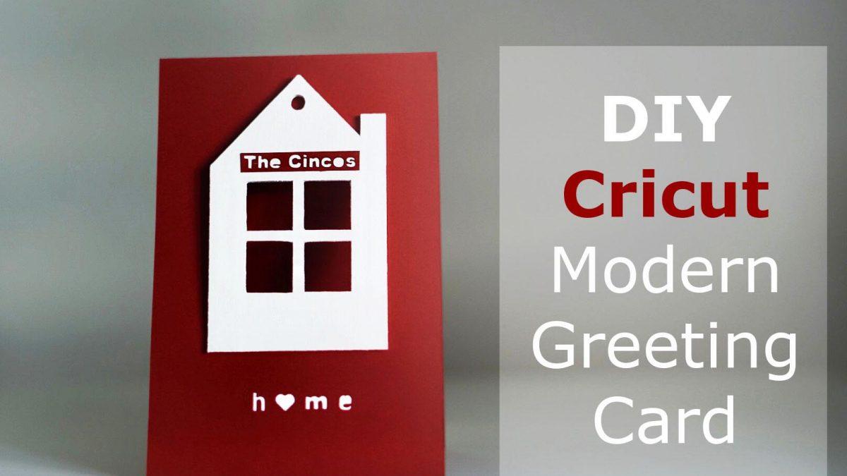 DIY Modern House Greeting Card