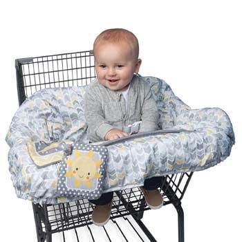 8. Boppy Shopping Cart and Restaurant High Chair Cover, Sunshine/Gray