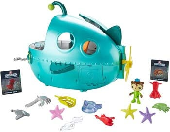 10. Fisher-Price Octonauts Gup-A Deluxe Playset, Sea Green,12