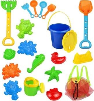 1. Click N Play 18Piece Beach Sand Toy Set