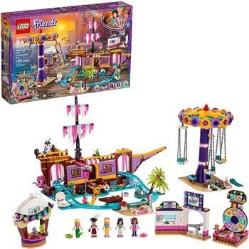 7. LEGO Friends Heartlake City Amusement Pier 41375 Toy Rollercoaster Building Kit