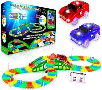 1. USA Toyz Glow Race Tracks and LED Toy Cars