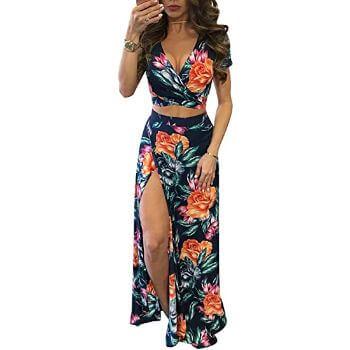 2. Aro Lora Two-Piece Maxi Dress