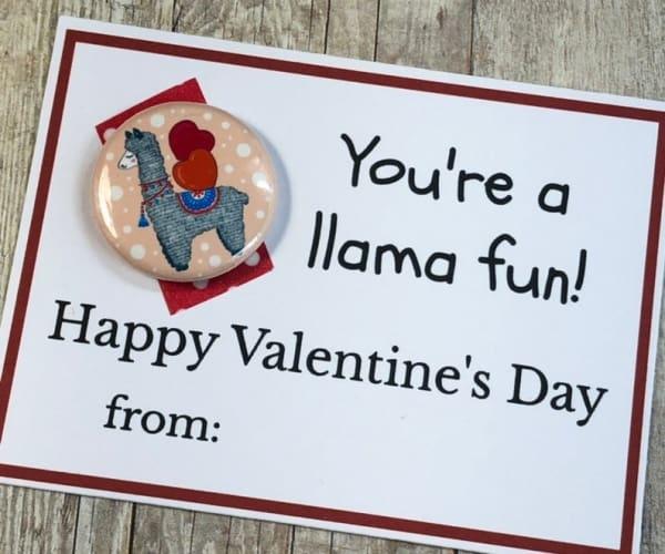 Valentines Day Card-llama