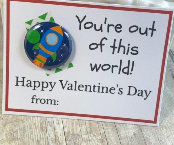 Valentines Day Card-rocketship