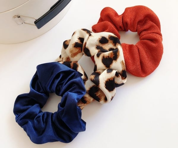 End of School Gift, Scrunchie Pack of Three, Babysitter Gift for Teenage Girl, Made in USA, Summer Accessory, Colorful Gifts for Her, VSCO Girl gift