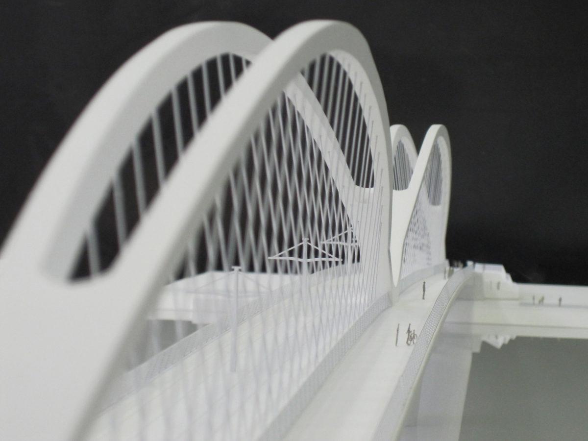 maquette du pont de Strasbourg par l'architecte Marc Barani au 1/200ème