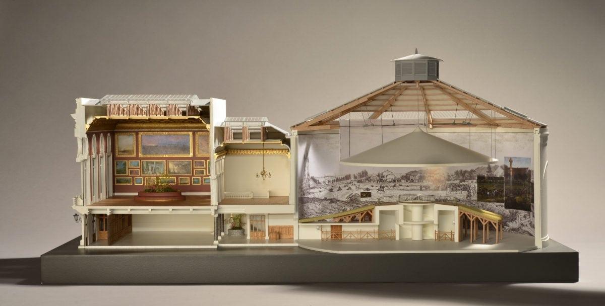 Maquette Panorama du musée de la Gravelotte