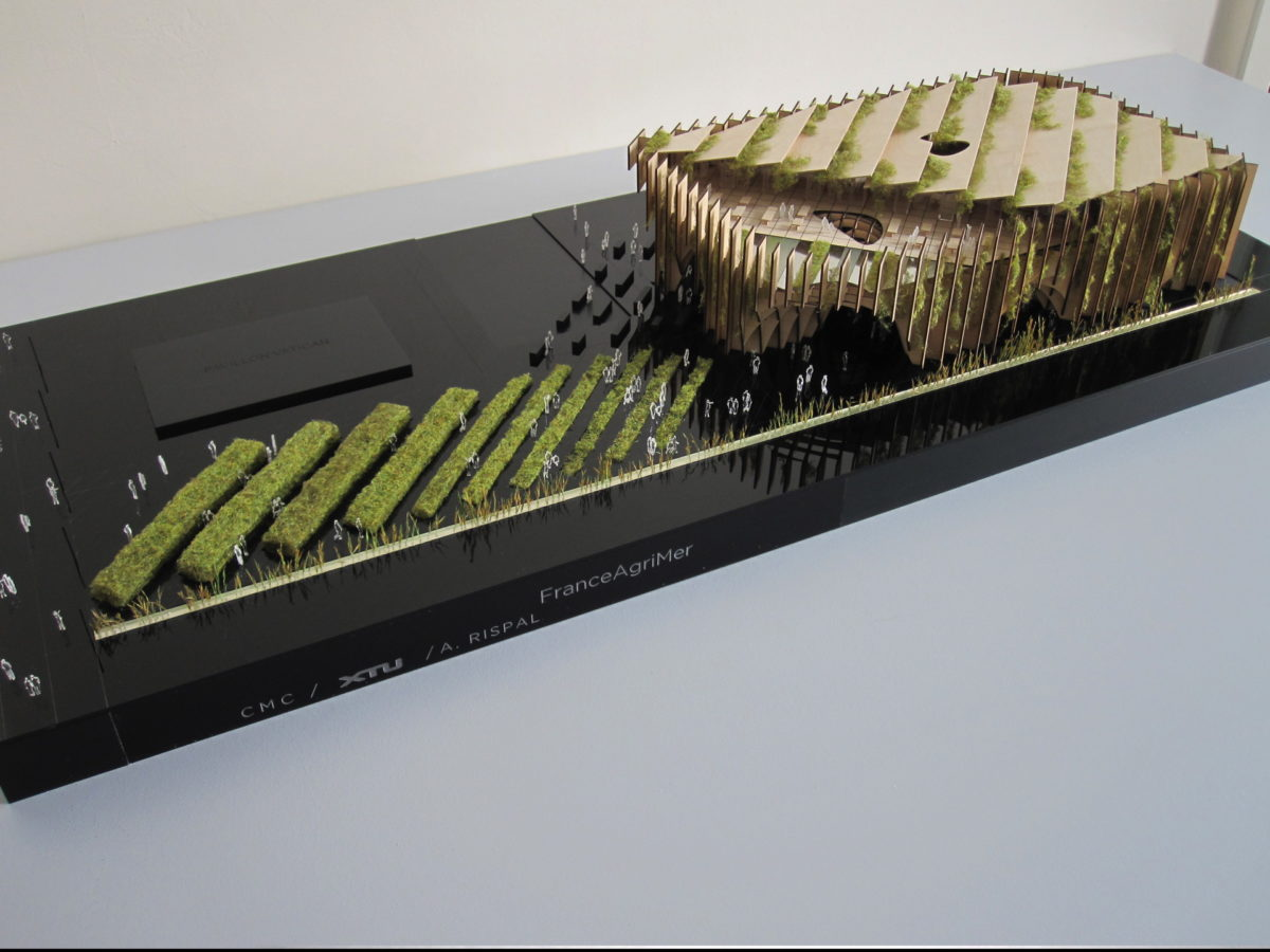 Maquette de concours architecture du Pavillon de l'exposition universelle de Milan XTU au 1/100ème