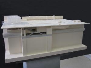 Maquette de la gare du Bourget aéroport par novembre architecture
