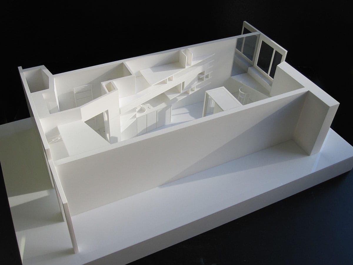 Maquette de détail à grande échelle, résidence sociale par Lelli architecte