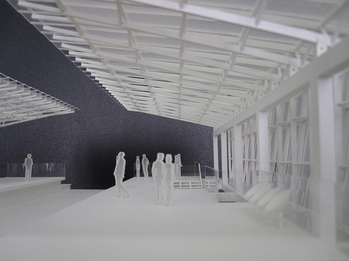 maquette à échelle importante, station aérienne coteaux beauclair, RATP, ligne 11