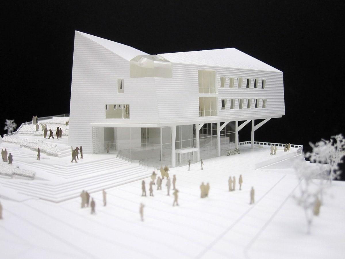 maquette de concours du conservatoire de Quimperlé par Chochon & Pierre + Joulin