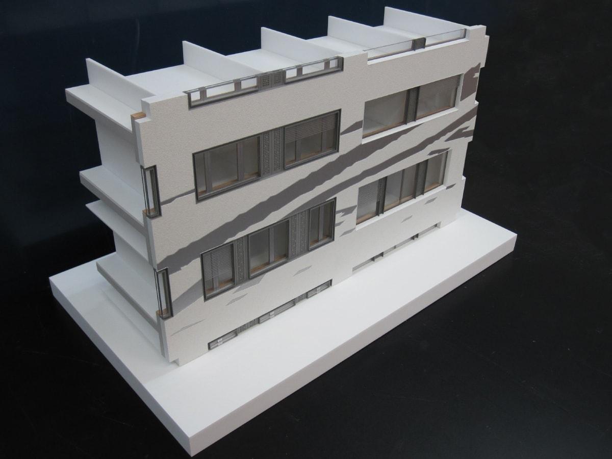Maquette de la façade de l'hôpital Limmatal de Zurich par Brunet Saunier