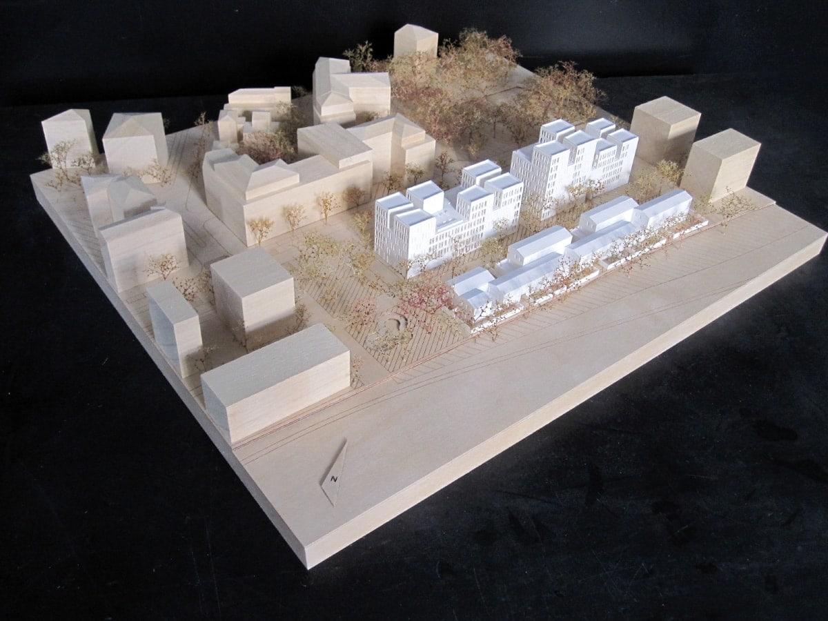 maquette de logements à Massy par SOA