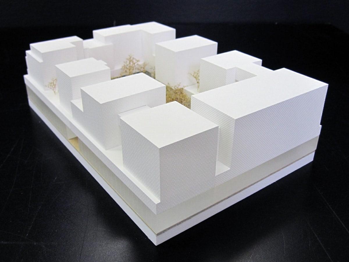 maquette de concours simple pour sud architectes, marie odile foucras, Ammeller Dubois et A+ Samul Delmas