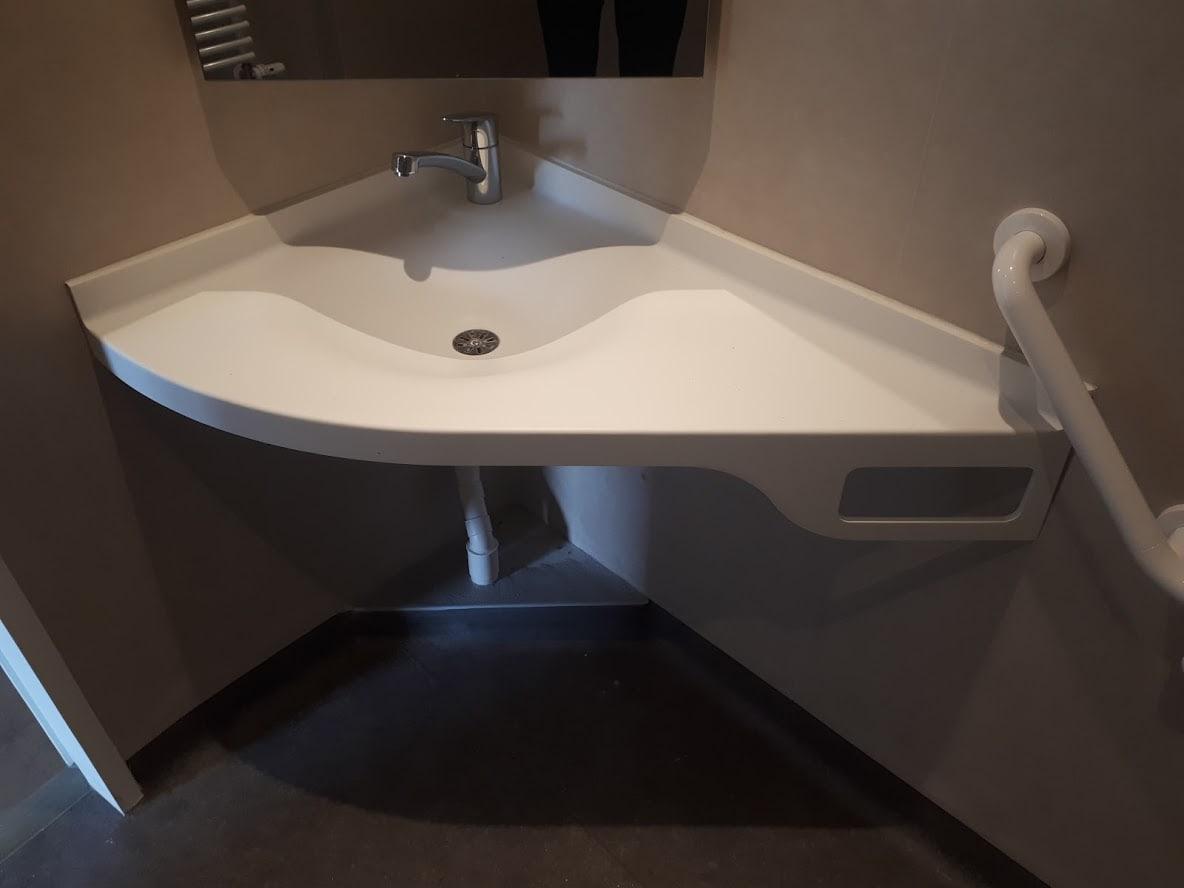 Vasque d'angle - BF PRO - Corian