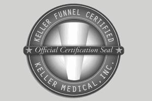 Keller Funnel Certification Seal - Dr Della Bennett MD - Gray